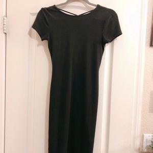 Dark Green Bpdycon Dress